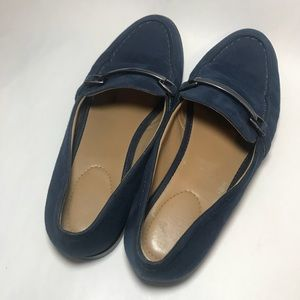 Franco Sarto Blue Suede Shoes Professional Loafer